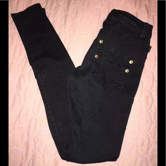 Rock & Republic Denim - Rock & Republic Womens Skinny Jeans 0M Black